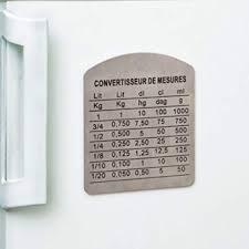 convertisseur mesures cuisine magnet convertisseur de mesures en inox amazon fr cuisine maison