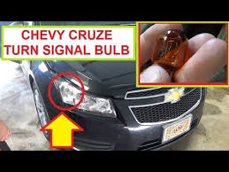 chevrolet cruze front turn signal light bulb removal and