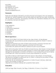 Resume Templates Case Manager