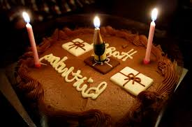 Happy Birthday Chocolate Cakes With Candles