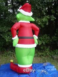 Grinch Outdoor Christmas Decorations by New Gemmy 8 U0027 Grinch Lighted Christmas Airblown Inflatable Outdoor
