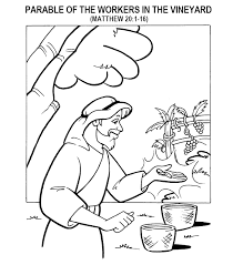 Coloring Page For Matthew 201 16 Parable Of The Workers In
