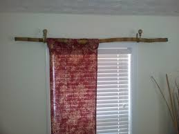 Image Of Rustic Curtain Rod Bamboo