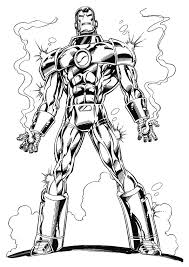 Cozy Inspiration Iron Man Color Page 60 Coloring Pages