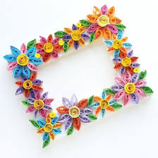 Quilled Flower Frame 109169 SheSaved This Easy Paper