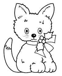 Christmas Kitty Coloring Pages Cat Page Grumpy Pics Animals Hello C