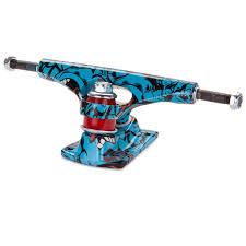 Krux Tall Screaming Skateboard Trucks - Blue