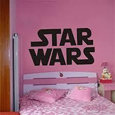 wandaufkleber riesige wars starwars logo schlafzimmer
