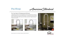 Used Commercial Pre Rinse Faucet by Faucet Com 4332 350 002 In Polished Chrome By American Standard