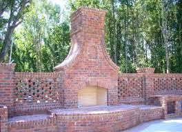 Brick Outdoor Fireplace photogiraffe
