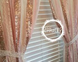 Peach Curtains For Nursery by Pink U0026 Gold Sparkle Sequin Garland Curtain With Lace Nursery