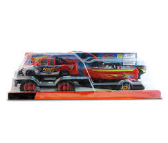100 Red Monster Truck Vehicle Playset With Boat Walmartcom