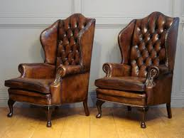 SOLD/PAIR OF ANTIQUE LEATHER WING ARMCHAIRS - Antique CHAIRS/BENCHES Strandmon Wing Chair Skiftebo Light Turquoise Ikea Sofa Exquisite Vintage Wingback Armchair Armchairs Chairs Carl Hansen Sessel Ottoman Chair Tom Dixon High Back Tall Accent Leather Ding Copper Legs Beut Space Swivel Pf Collections Fniture For Sale Parker Knoll York With Manual Recliner Recliners Erik West Elm Uk