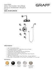 adley thermostatic set w sprays handshower