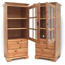 details zu schrank naturholz schubladen vitrine möbel gebraucht guter zustand landhausstil