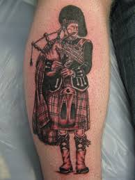 Nice Scottish Bagpipe Player Tattoo