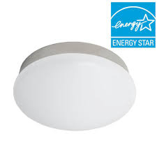 commercial electric 11 in bright cool white brushed nickel