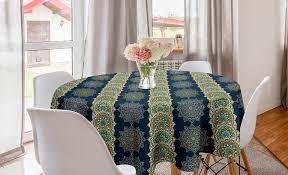 abakuhaus tischdecke kreis tischdecke abdeckung für esszimmer küche dekoration orientalisch bohemian marokkanische motive kaufen otto