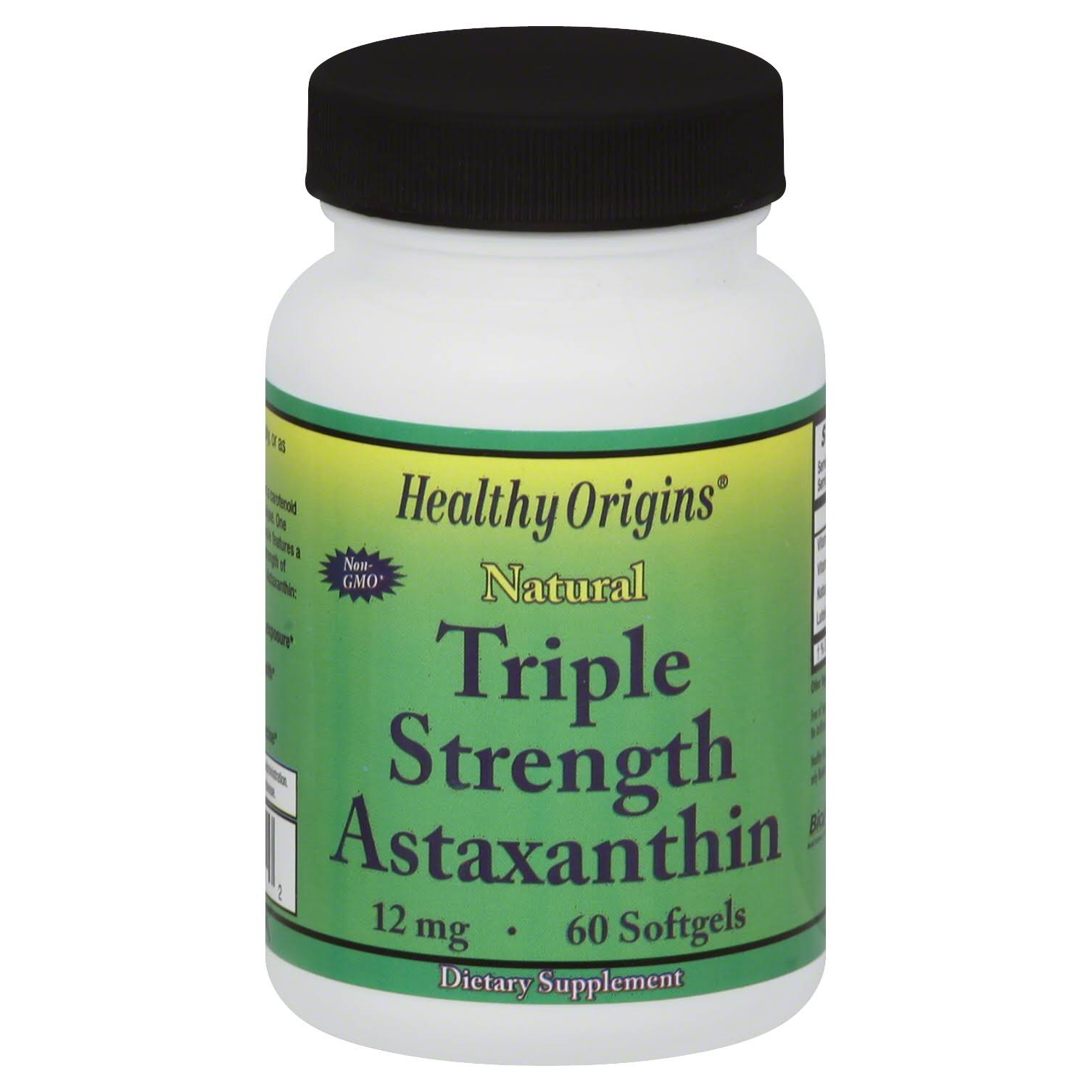 Healthy Origins Natural Triple Strength Astaxanthin - 60 Softgels