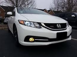 2013 honda civic si sedan yellow fog light overlay tint fb2 jdm