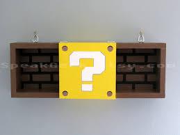 Mario Bros Question Block Lamp by Super Mario Bros Shelf Shadow Box Shelf Modern Question