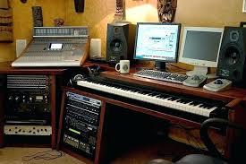 Music Studio Desk Home With Custom Built