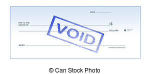 Void check stock photo Search graphs and Clipart s