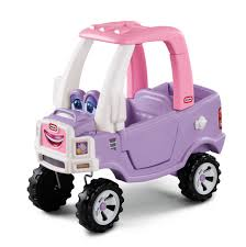 Amazon.com: Little Tikes Princess Cozy Truck Ride-On: Toys & Games ...
