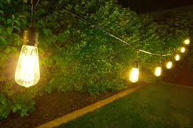 outdoor led lights string with small wedding and 5