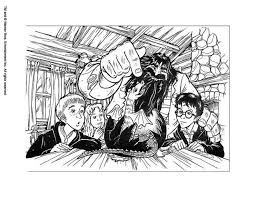 Hagrid And Harry Potter Coloring Page