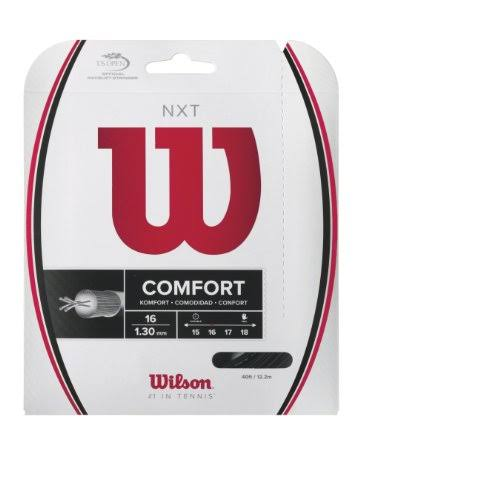 Wilson NXT 16 Tennis String Set - Black, 40'