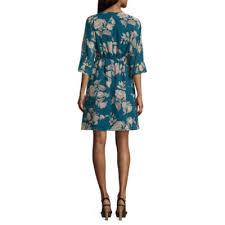 jcpenney light blue dress a n a woven ruffle sleeve dress jcpenney