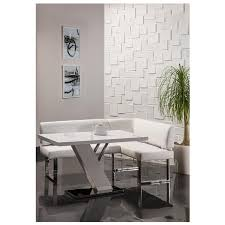 linden white corner nook set el dorado furniture