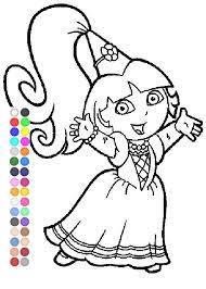 Dora Coloring Games