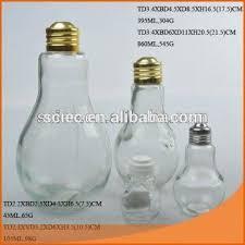 wholesale light bulb shape glass spice jar with metal lid global