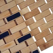badematte hwc b18 badezimmer badvorleger saunamatte bambus 79x50cm