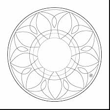 Great Simple Mandala Coloring Pages With Mandela And For Free