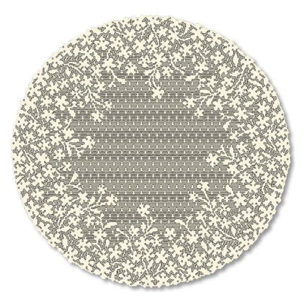 Heritage Lace Blossom Doily Ecru / 12 inch Round