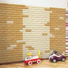 A06502 Peel Stick 3D Environmental PE Wall Brick 10 Sheets 484 SqFt