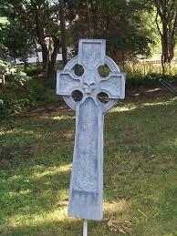 Diy Halloween Tombstones Plywood by Haunters Hangout Celtic Cross