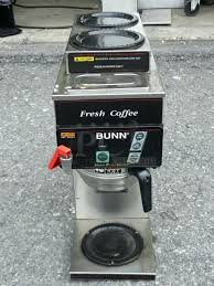 Bunn 3 Burner Coffee Maker Stainless Steel Commercial Machine W Hot Water