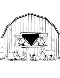 Free Coloring Pages Of Barnyard