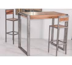 table haute cuisine cool table cuisine haute m tal loft chaise ronde extensible design