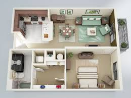 "50 e ""1"" Bedroom Apartment House Plans"