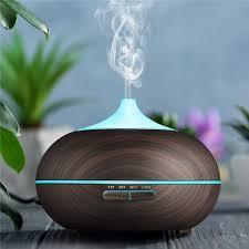 aroma diffuser tenswall ultraschall luftbefeuchter aromatherapie ätherische öle luftbefeuchter mit 7 farben led lichter 550ml