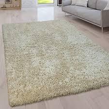paco home hochflor wohnzimmer teppich waschbar shaggy uni in versch größen u farben grösse 120x160 cm farbe beige