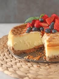 creme brulee cheesecake brown sugar food