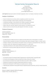 Ultrasound Resume Exles by Cardiac Sonographer Resume 62 Images Important Resume Tips
