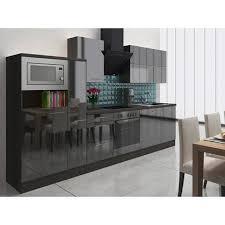 respekta premium küchenzeile rp310escmis 310 cm schwarz