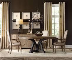 Hooker Furniture Corsica Dark Round Dining Table Base Light Top 5280